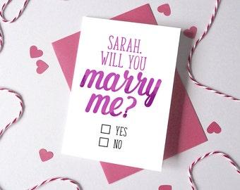 Marry Me? Proposal Card - Engagement Card -  Anniversary Card - Card for fiancé - Proposal Card - card for girlfriend boyfriend - love card