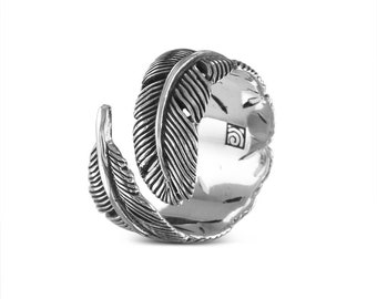 Sterling Silver Feather Ring - .925 Silver Feather Ring