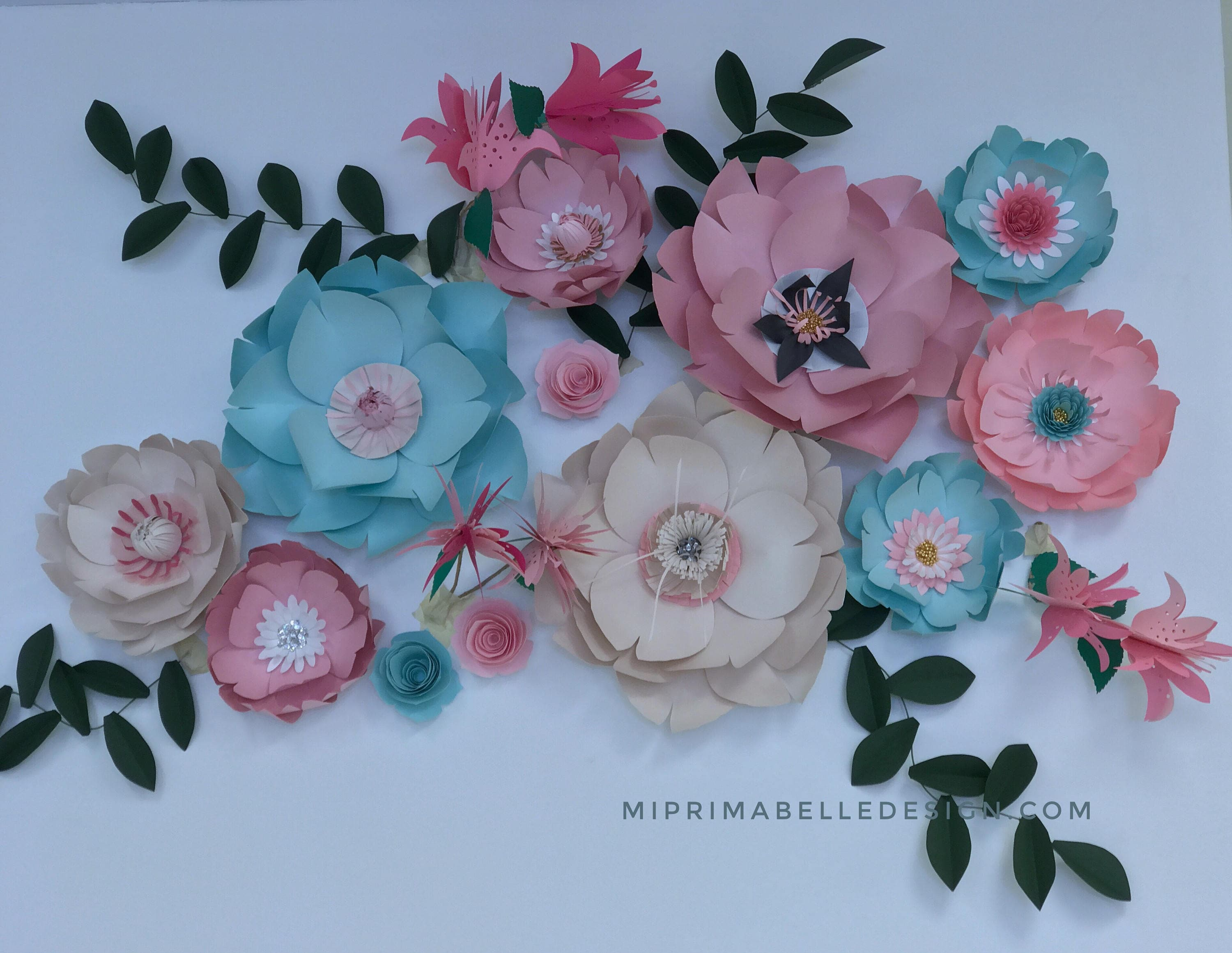 Paper Flower Wall Decorations