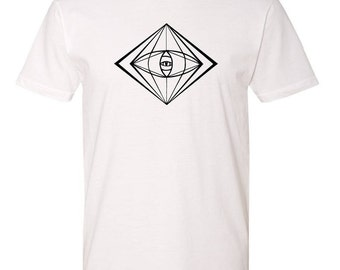 Male T-Shirt Sacred Geometry Astral Eye Graphic Tee