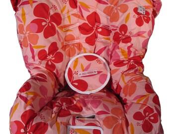 Hula Moon Toddler Pink/Orange Hawaiian Car Seat Cover