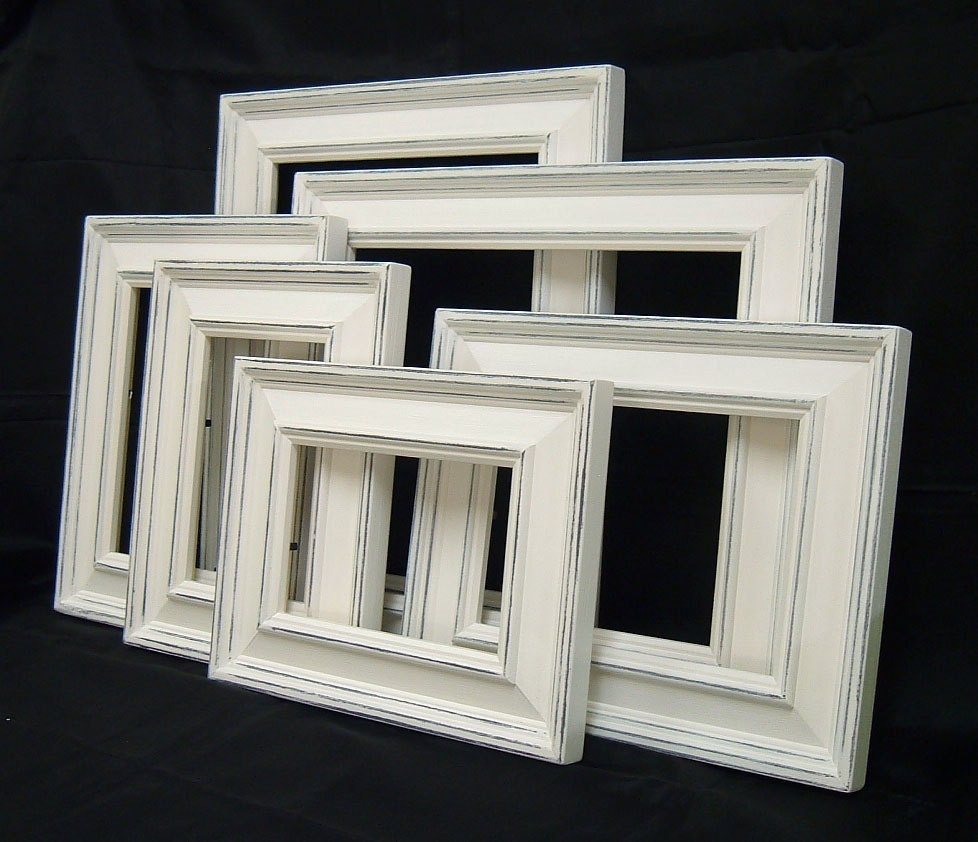 Picture frame set white picture frame shabby chic picture frames picture frame set white picture frame shabby chic picture frames home decor rustic picture frame set beach decor wall decor 4x6 5x7 8x10 jeuxipadfo Images