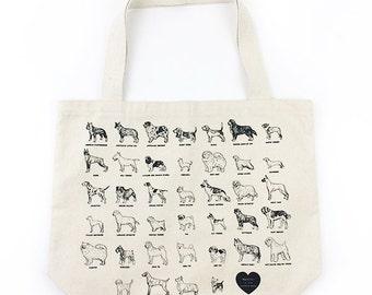 Dog Breeds Tote Bag