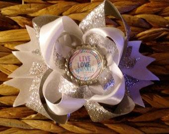 Live Love Sparkle Hair Bow
