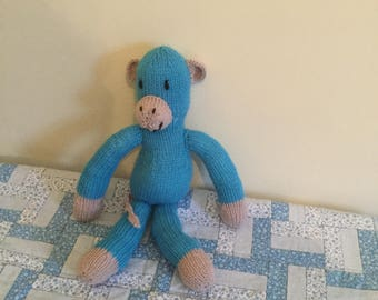 Hand knitted monkey