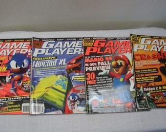Vintage 1996 Game Player Magazines - No. 85 86 87 88