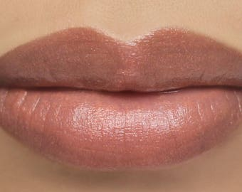 "Vegan Sheer Lipstick - ""Innocence"" peach pink nude all natural mineral lipstick"