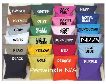 10 Corn hole Plain bean bags for 25. Cornhole board bags with Clean Corn fill.  Birthday, Wedding or any occasion by Southsidebeanbags