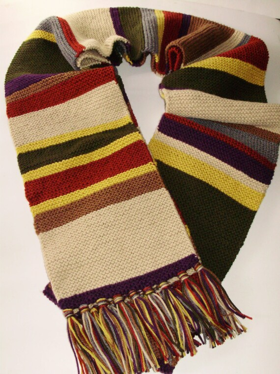 Mini Season 16 17 Doctor Who Type Scarf Hand Knit Garter