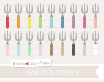 Garden Fork Clipart, Gardening Clip Art Garden Tool Yard Work Spade Tool Box Toolbox Cute Digital Graphic Design Small Commercial Use