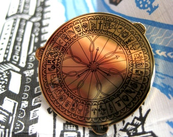 His Dark Materials, Alethiometer/Golden Compass Enamel Pin