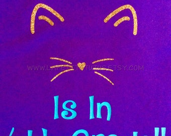 back to school shirt, this cat is in 4th grade, cat shirt, custom shirt, vinyl shirt, girls shirt, toddler shirt, back to school shirt