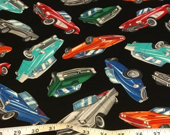 Timeless Treasures Antique Cars GM fabric by the half yard