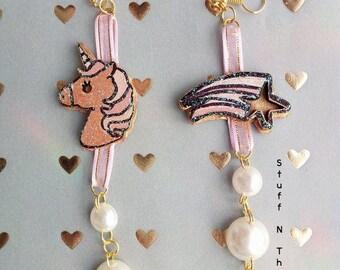 Unicorn Earrings Pearls
