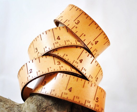 Leather tape measure, Single bracelet, tape measure accessory, woodwork, teacher, student, designer, maker, knitter