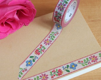 Embroidery Washi Tape • MT Masking Tape • MT ex Washi Tape • Floral Tape • Washi Tape UK • Japanese stationery • Embroidery
