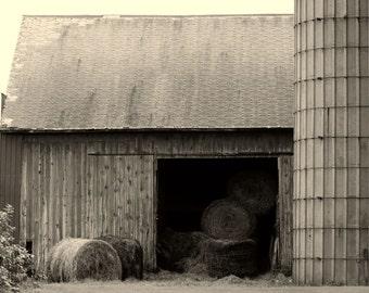 Rustic barn and hay