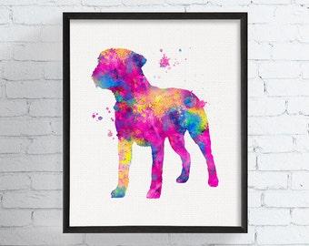 Watercolor Border Terrier, Border Terrier Art Print, Border Terrier Painting, Watercolor Dog Print, Dog Wall Art,  Art, Dog Memorial, Framed