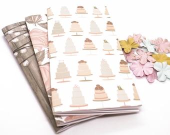 Set of Travelers Notebook Insert Midori Travelers Notebook Engagement Gift Bridal Shower Gift Wedding Gift Midori Notebook, Journal gifts