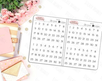 Date Dots:the 1407 planners, annie plans printables, sew much crafting, erin condren, happy planner