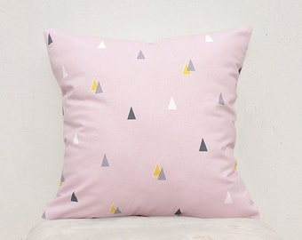 Pink Triangle Pillow cover, Decorative Pillow Case, Kids Pillows Case