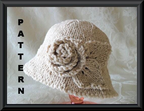 Knitted Hat Pattern Instant Download Hat Pattern Bonnet
