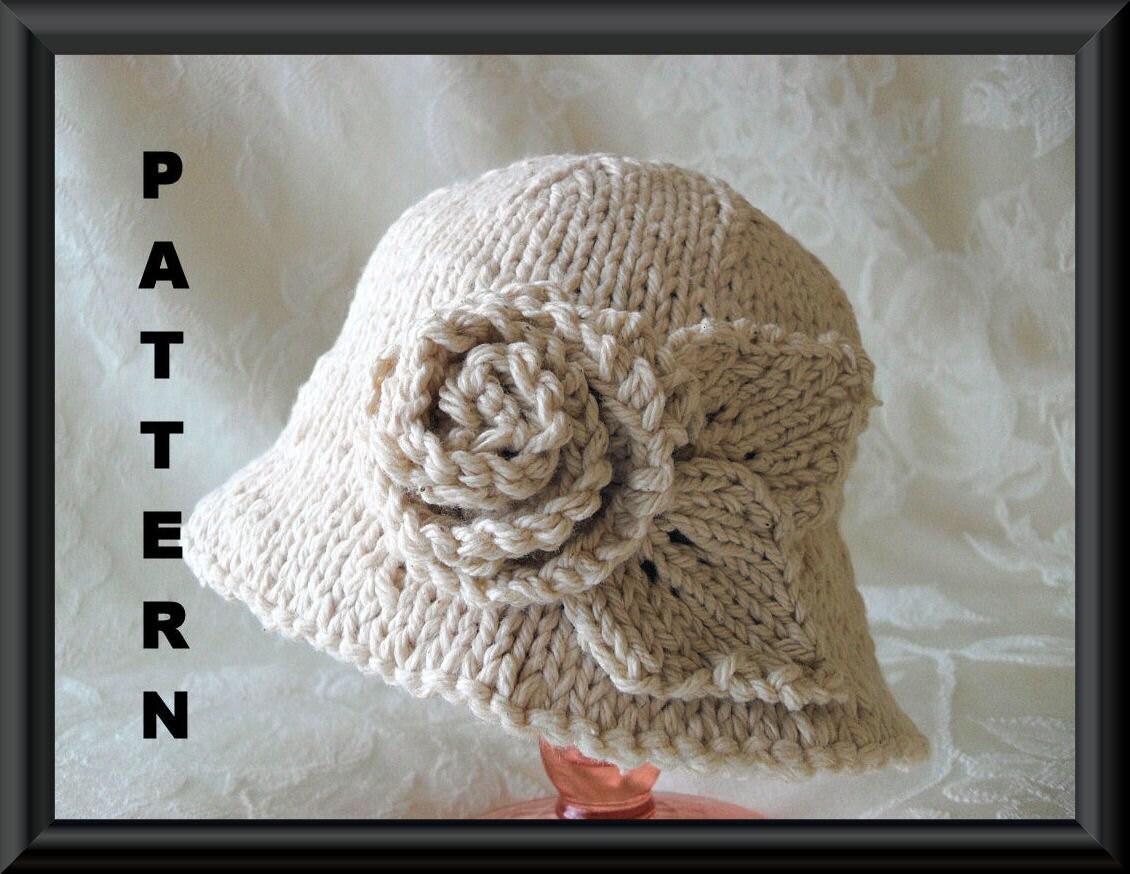 Knitted Hat Pattern Instant Download Hat Pattern Bonnet Pattern ...