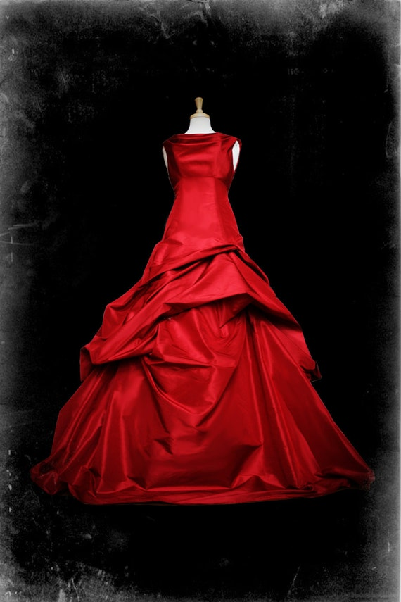 Red Wedding Dress Gothic Ball Gown Casey Style Custom Made