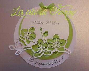 Cut Orchid wedding invitation