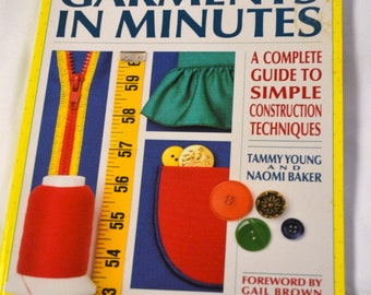 "Vintage Serger  Sewing Book ""Serged Garments in Minutes"""
