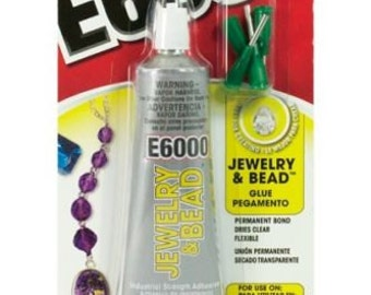 1 FL OZ E6000 Jewelry and Bead Craft Industrial Strength Adhesive Glue with Precision Tips