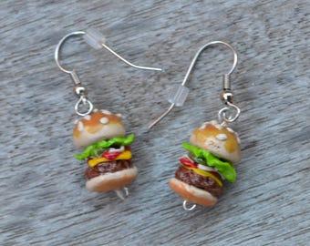 Cheeseburger Dangle Earrings