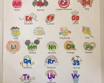 Personalized Alphabet Chart