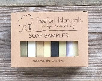 Soap Sampler Set - Soap Ends, All Natural soap, Handmade soap, Cold Process soap, essential oil soap, vegan soap, soap box