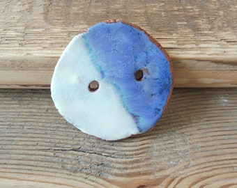 Large Ceramic button handmade