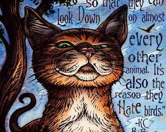 "Climb- 8"" x 10""- Cat Art Print- Cat Wall Decor- Cat Wall Art- Cat Print- Cat Gift"