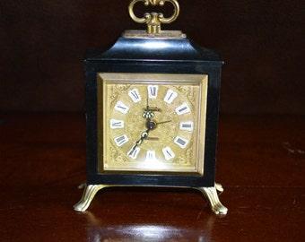 Swania 2 Jewels Miniature Alarm Clock Made in Germany