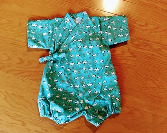 Baby Kimono , baby jinbei , baby Kimono rompers jinbei , baby ropmers kimono