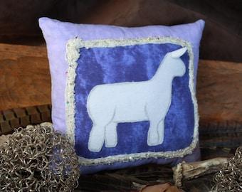 Purple Dorset Show Lamb Pillow