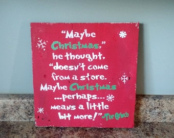 Maybe Christmas Barnwood sign