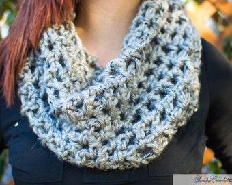 Gray Sundae Cowl Scarf  | Crochet Scarf | Cowl Scarf | Winter Scarf
