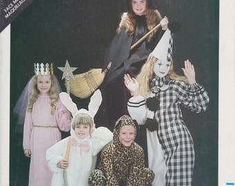 Clown Costume Pattern Bunny Witch Queen Princess  Misses Size 8 - 18 Chest Uncut Butterick 3372