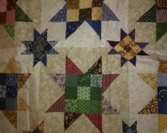 Vintage 8 Pointed Star Quilt Fabric