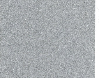 Silver Glitter Card A4 soft touch low shed 1 sheet
