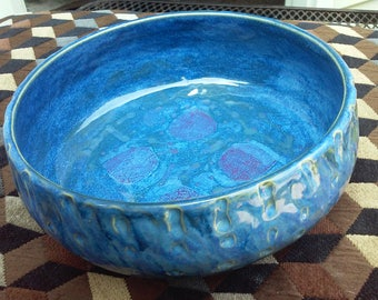 Blue Bowl with character