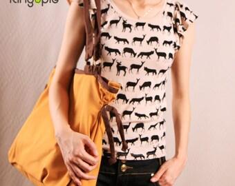 Sale 30%-Ringopie Everyday Canvas Tote Bag(Mustard)/shoulder bag/purse/laptop bag/school bag/Handbag/women/Gift For Her/Gift For Him-052