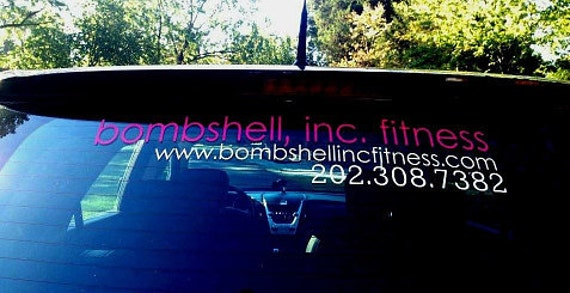 Items Similar To Custom Vinyl Car Decal Business Decals Vehicle - Custom window clings for cars