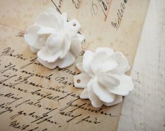 SALE 8Pcs Big White Roses With Hole