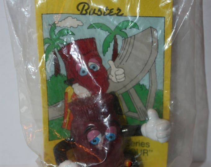 The California Raisins BUSTER 1991 Hardee's Kid's Meal Toy SEALED