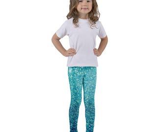 Blue Glitterati - Kid's Leggings